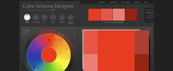 View Information about Colour Scheme Designer