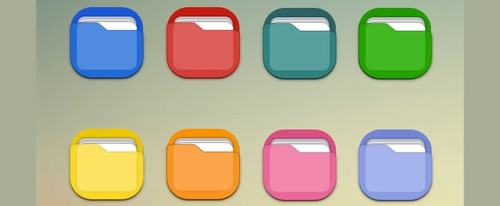 View Information about Coloured Folder Icons