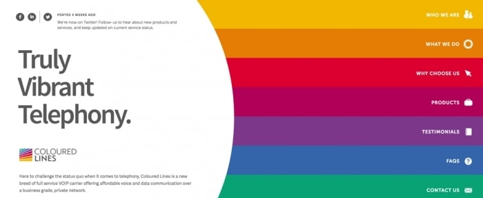 View Information about Coloured Lines