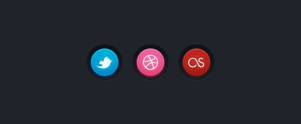 Go To Colourful Social Buttons