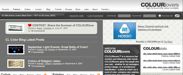 View Information about Colourlovers