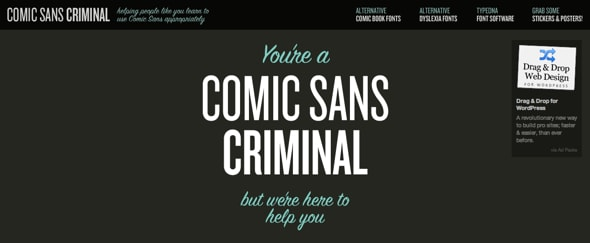 Go To Comic Sans Criminal