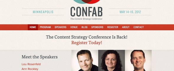 View Information about Confab 2012