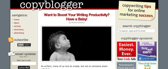 View Information about Copyblogger