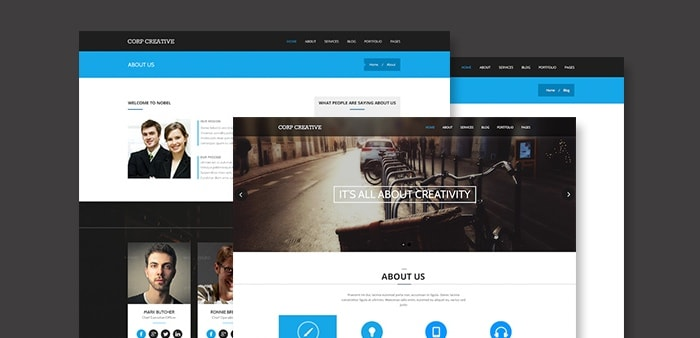 Go To Corporate Creative PSD Template