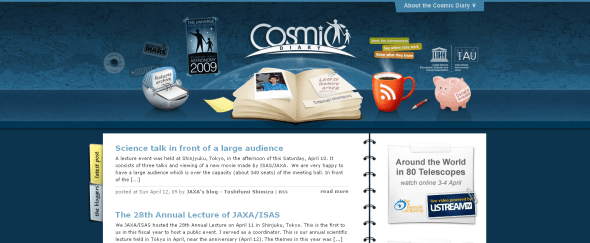 View Information about Cosmic Diary