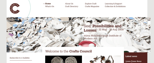 View Information about Crafts Council