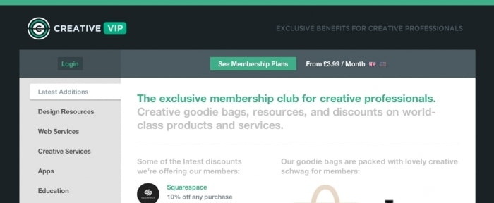 View Information about Creative VIP Membership