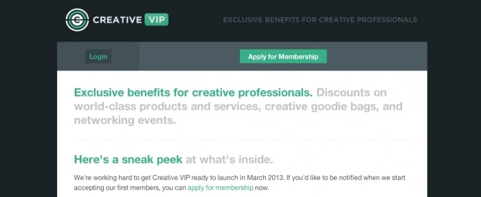 View Information about Creative VIP Preview