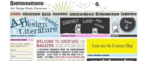 View Information about Creaturemag