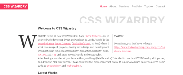 View Information about CSS Wizardry