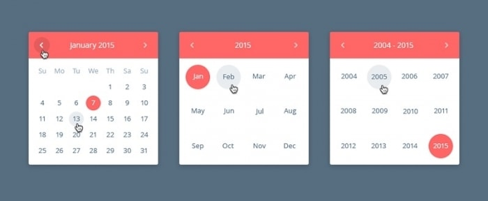 View Information about Date Picker UI