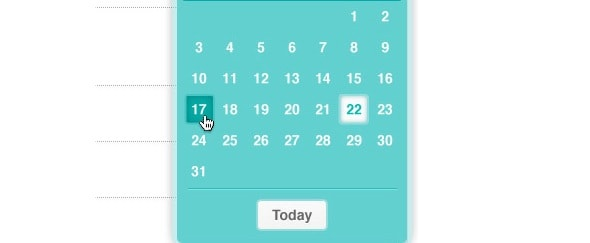 View Information about Date Selector
