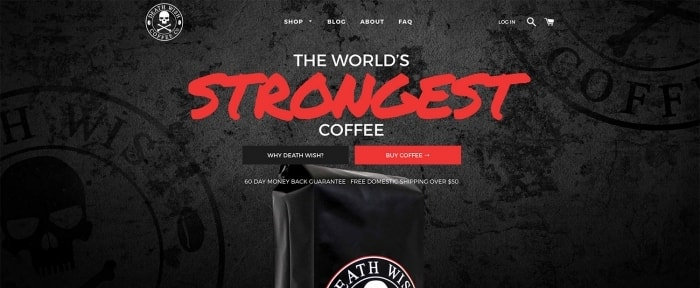 View Information about Death Wish Coffee