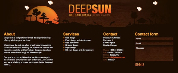 View Information about Deep Sun