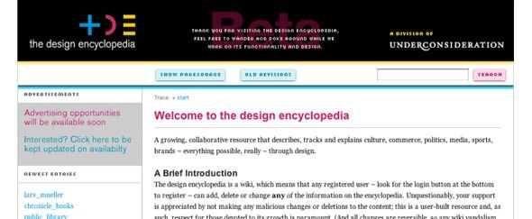 Go To Design Encyclopedia