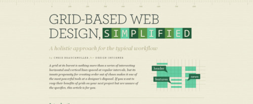 View Information about Grid Based Web Design