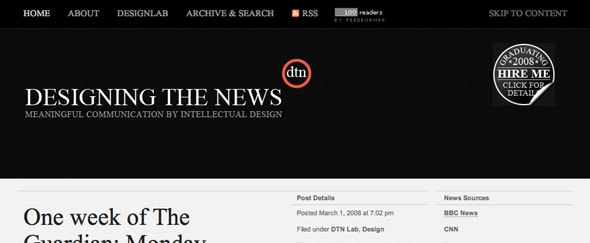 View Information about Designing The News