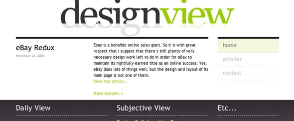View Information about Design View