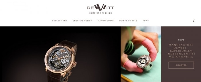 View Information about Dewitt Watches
