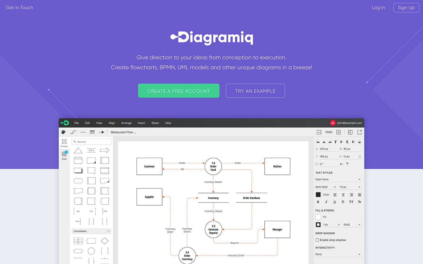 Go To Diagramiq Flowcharts