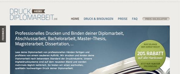 View Information about Druck Deine Diplomarbeit