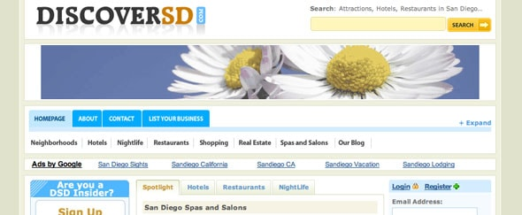 View Information about Discover SD