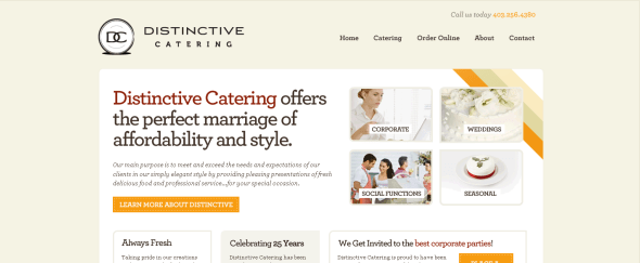 View Information about Distinctive Catering