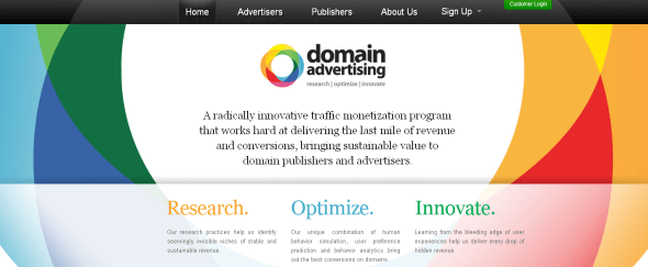 View Information about Domain Advertising