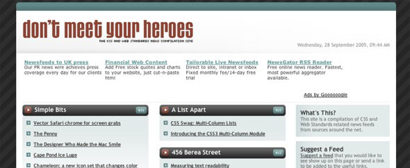 View Information about Dont Meet Your Heroes