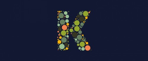 View Information about Dotted Monogram Letter K