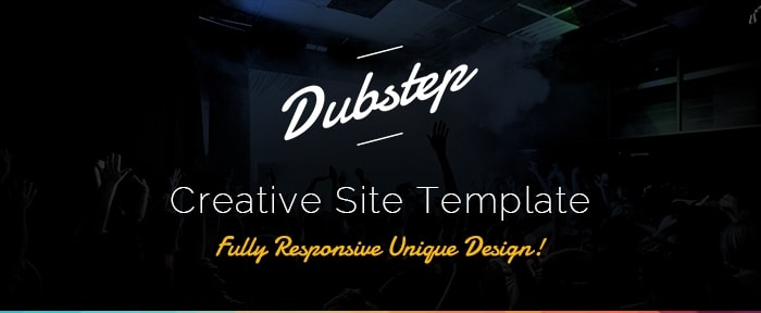 Go To Dubstep - Creative Site Template