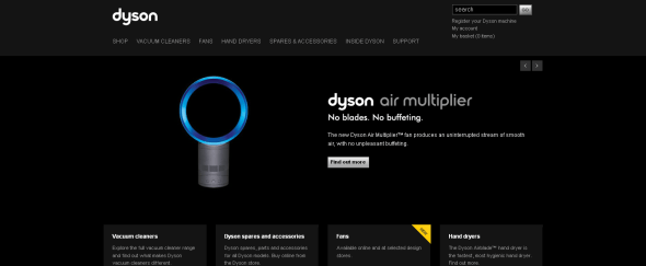 View Information about Dyson