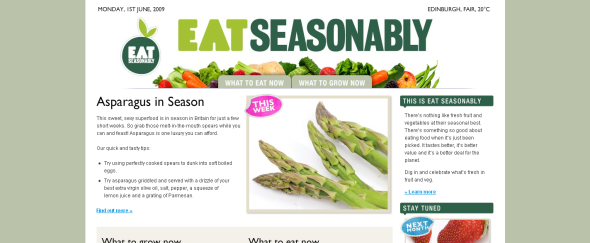 View Information about Eat Seasonably