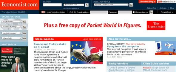 View Information about Economist.com