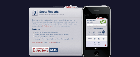 View Information about Snow Reports