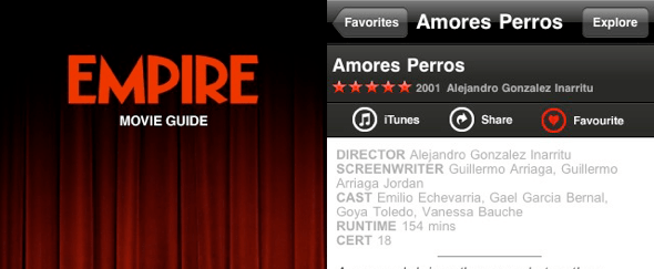View Information about Empire for iPhone