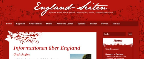 View Information about England-seiten