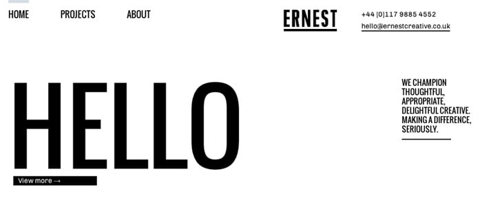 View Information about Ernest Creative