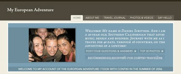 View Information about My European Adventure