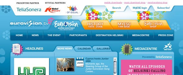 View Information about Eurovision - Helsinki 2007