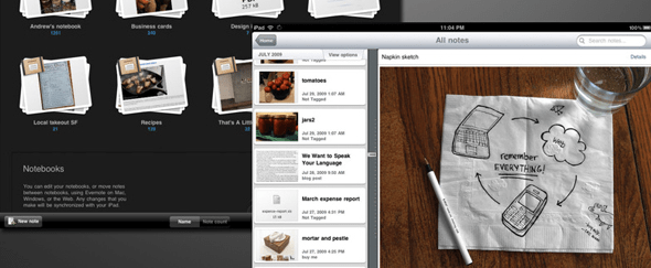 View Information about Evernote for iPad