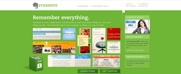 View Information about Evernote