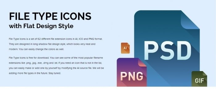 View Information about File Type Icons
