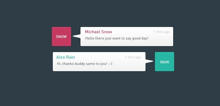 Go To Flat Chat Widget UI