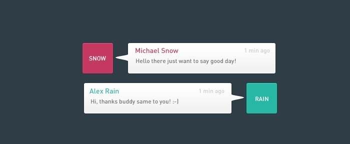 View Information about Flat Chat Widget UI