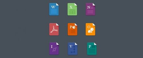 View Information about Flat File Icons