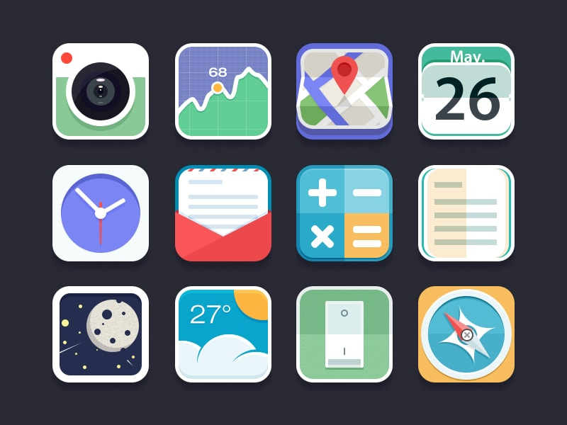 Go To Flat Icon Set