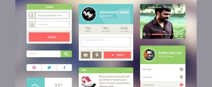Go To Flat Rounded UI Kit