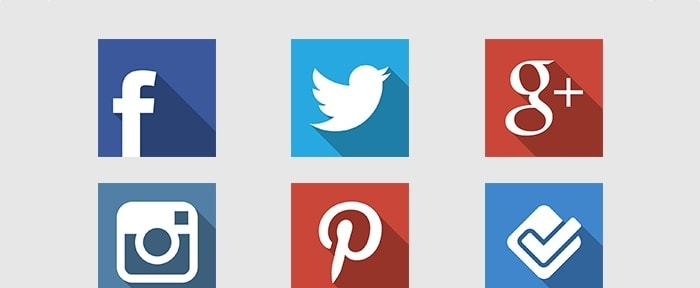 Go To Flat Social Icons